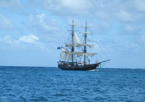 St Lucia - 3 Masted Sailing Ship