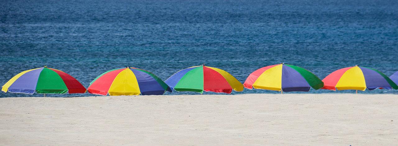 Beach-Umbrellas-St-Lucia