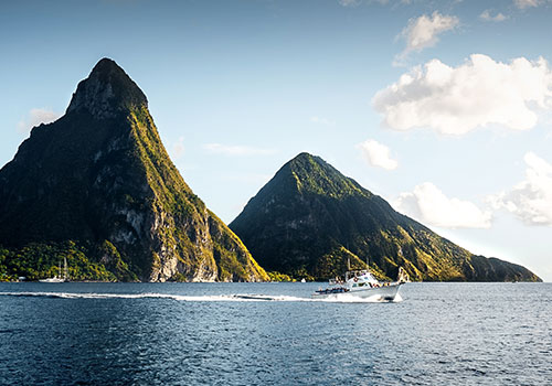 Twin Pitons St Lucia