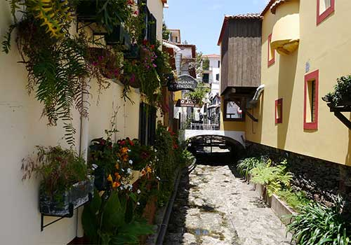 Funchal streetscape Madeira