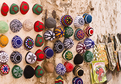 Morocco - Hats at a souk