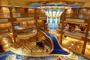 Main Lobby In Disney Cruise Ship