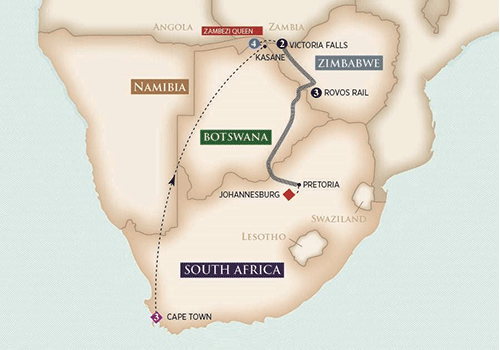 Africa River Cruise map