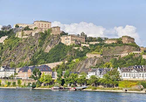Middle-Rhine-Castle-Ehrenbreitstein-Fortress