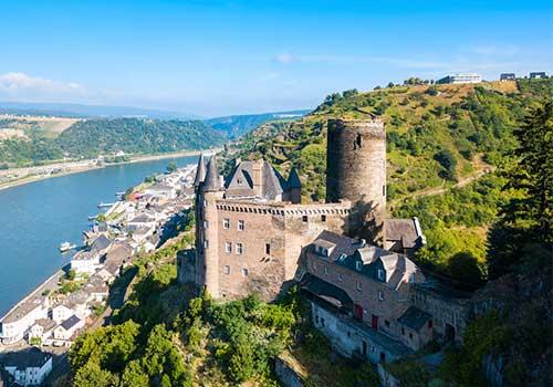 Middle-Rhine-Castle-Katz-Castle