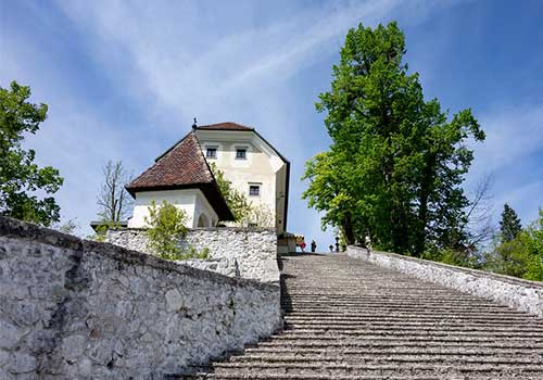 Lake Bled - 99 steps Bled island
