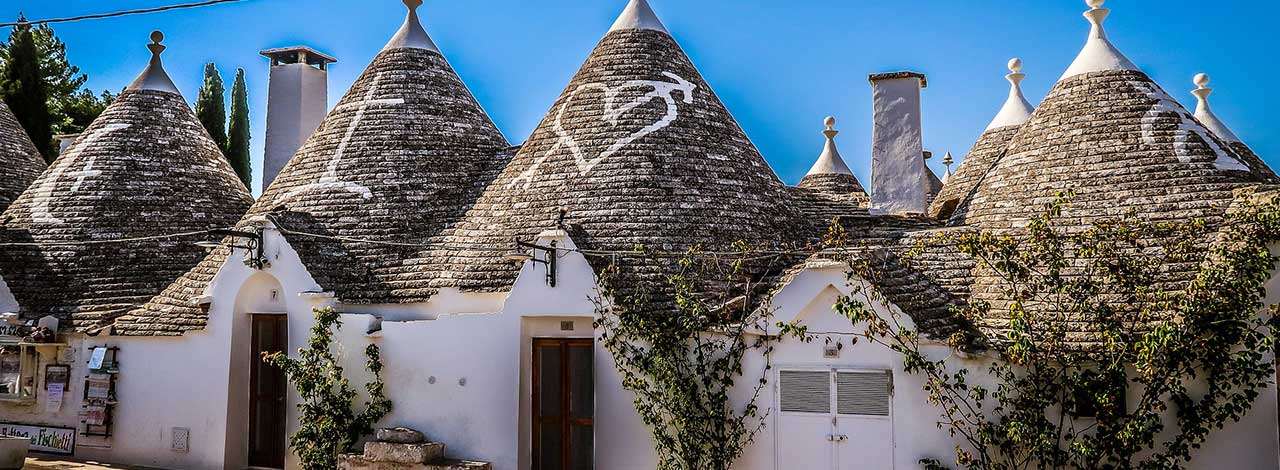 Puglia - streetscape of trulli