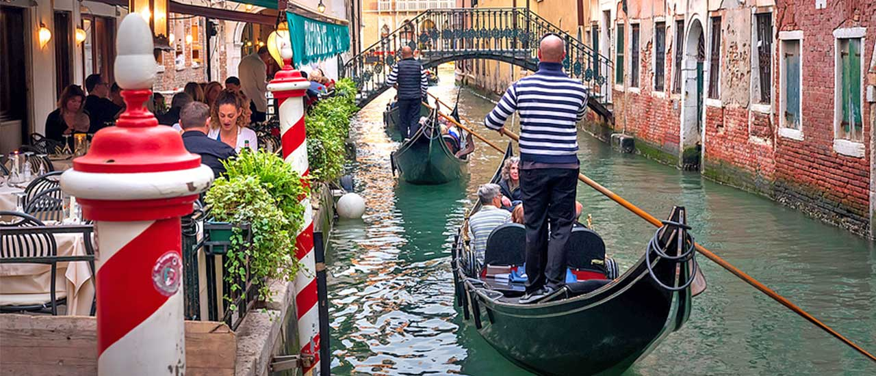 Romantic Venice Gondolas