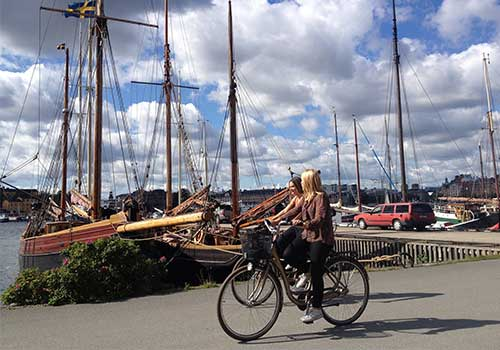 Stockholm,-Sweden-Biking