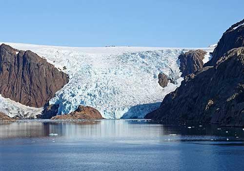 Greenland-Prins Christian Sund Glacier